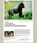 Invest in a Gorilla's Paradise for someone and receive a personalized certificate