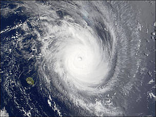 Tropical Storm Guillaume in the southwestern Indian Ocean close to Mauritius and Madagascar. Waves in the region were as high 24 feet.