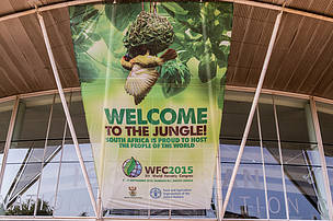 XIV WFC entrance, Durban International Convention Centre